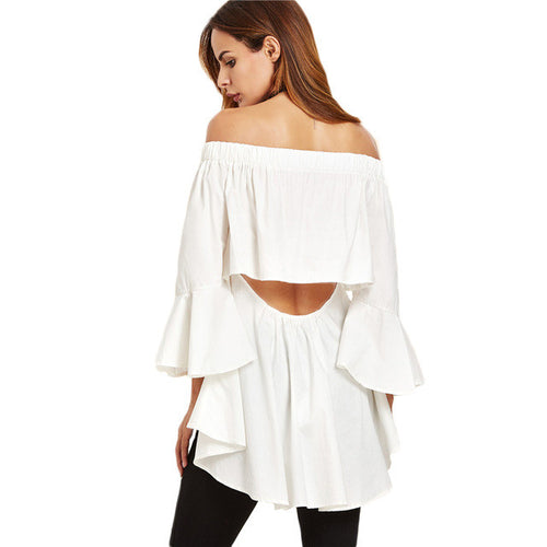 'Cora' High Low Back Blouse