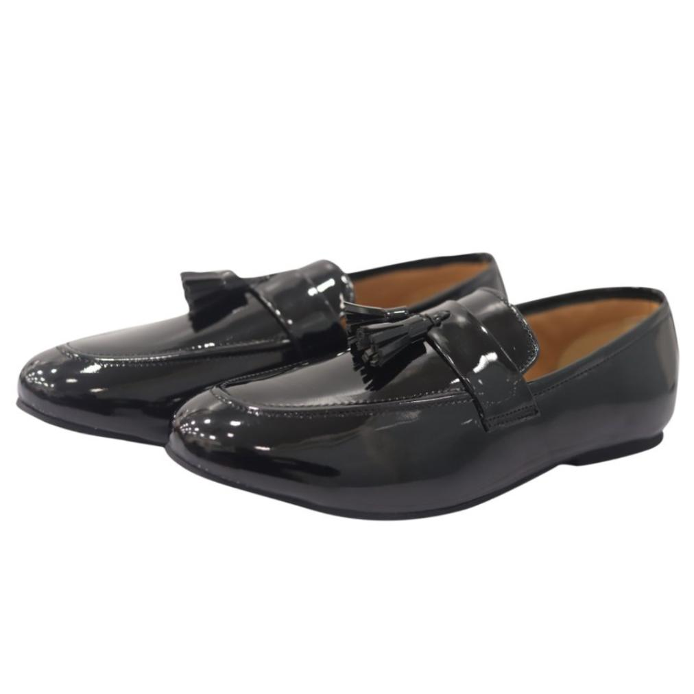 4c956d0a7 Markeniacs Patent Tassel Loafers (Black) - Handmade Shoes ,Loafers - Shoes,  Elitous