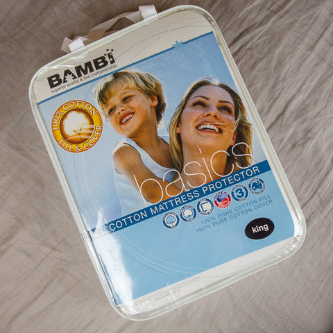 Bambi All Cotton Mattress Protectors - Protectors - The Natural Bedding Company
