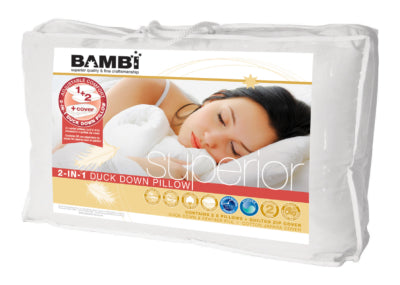 Bambi 2-in-1 Duck Down Pillow - Pillows - The Natural Bedding Company