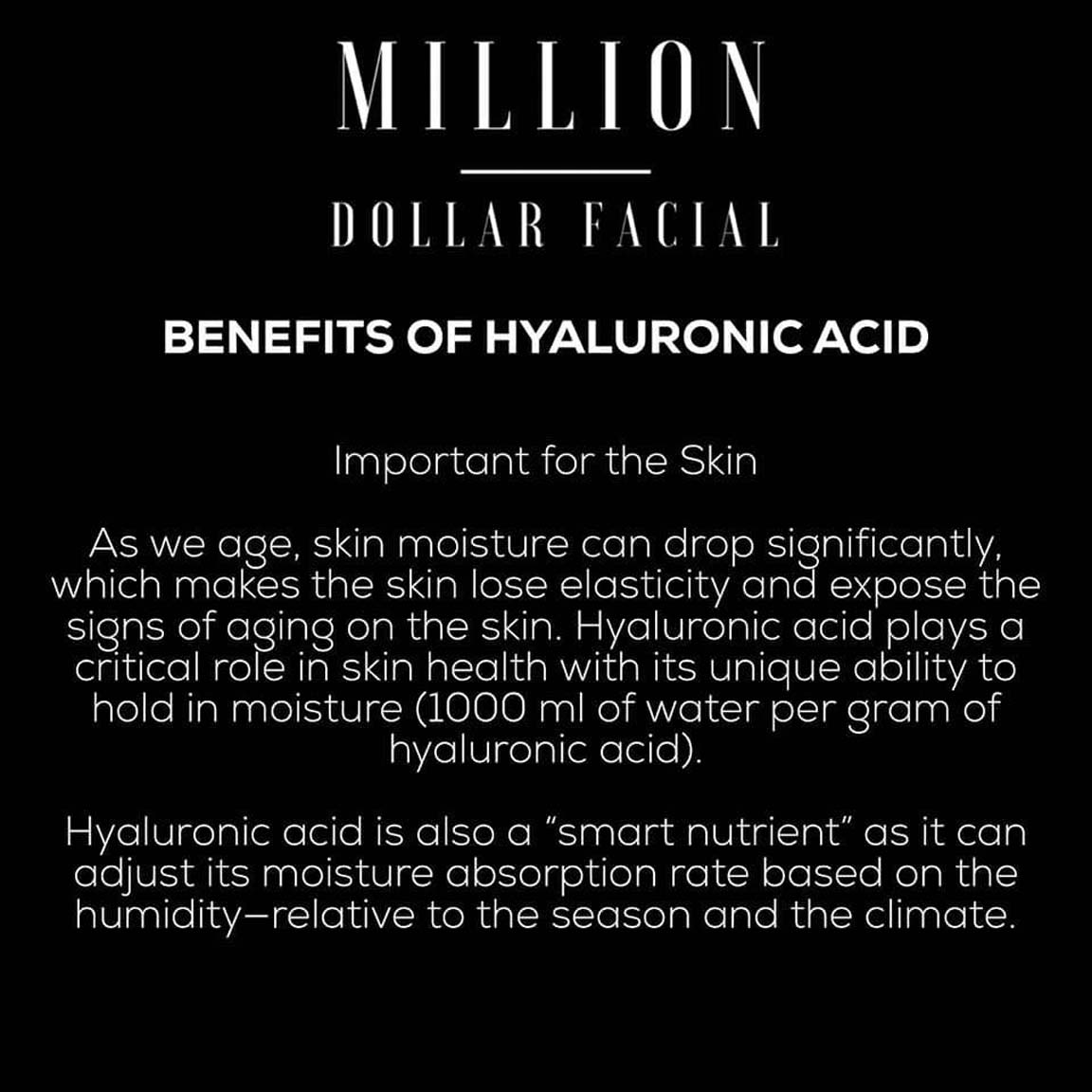 Benefits of The Million Dollar Facial