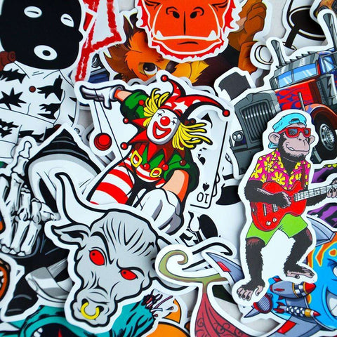 100 Pieces Sticker Pack for Car Covers Skateboard Motorcycle Laptop