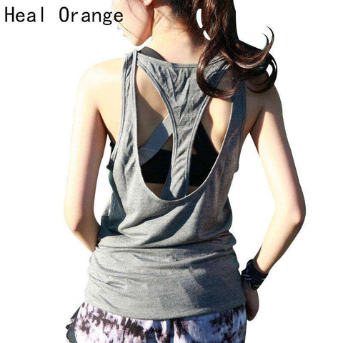 2017 New HEAL ORANGE Ladies Yoga Gym Running Tops