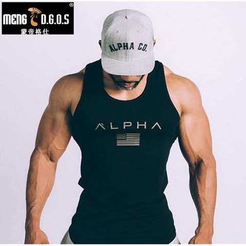 ALPHA Loose breathable sleeveless Bodybuilding Men's shirts