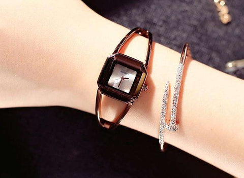 KIMIO K463 Luxury Brand Ladies Square Quartz Bracelet Watch