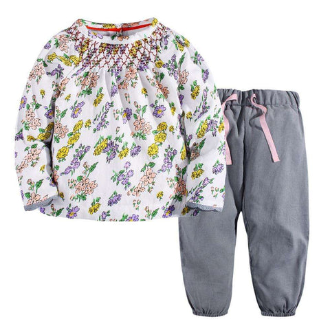 100% Cotton Long Sleeve Tops +Pants Autumn Children Clothing Sets By W.L.MONSOON