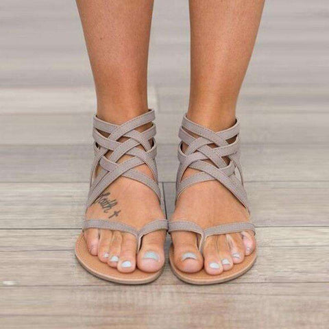 NIUFUNI 2017 New Ladies Casual European Rome Style Sandals