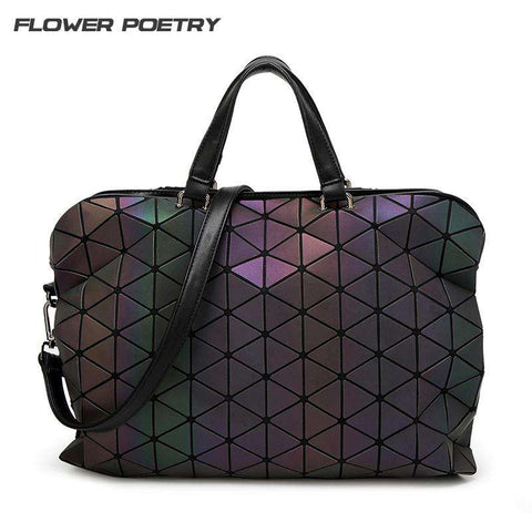 FLOWER POETRY Luxury Luminous Elegant Geometric Folding Handbags