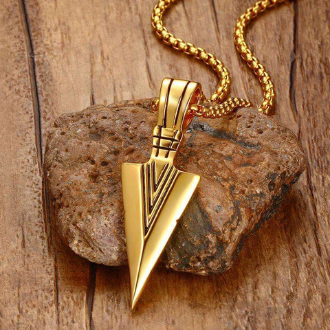 MPRAINBOW Arrowhead Pendant Necklace