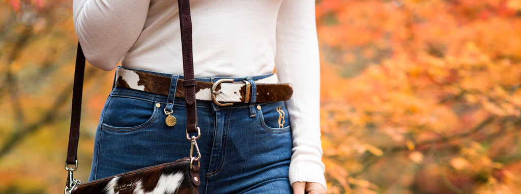 Behind The Belmont Cowhide Belt