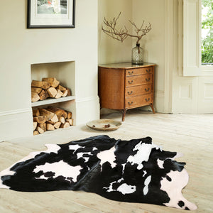 Hand Picked Black and White Cowhide Rugs