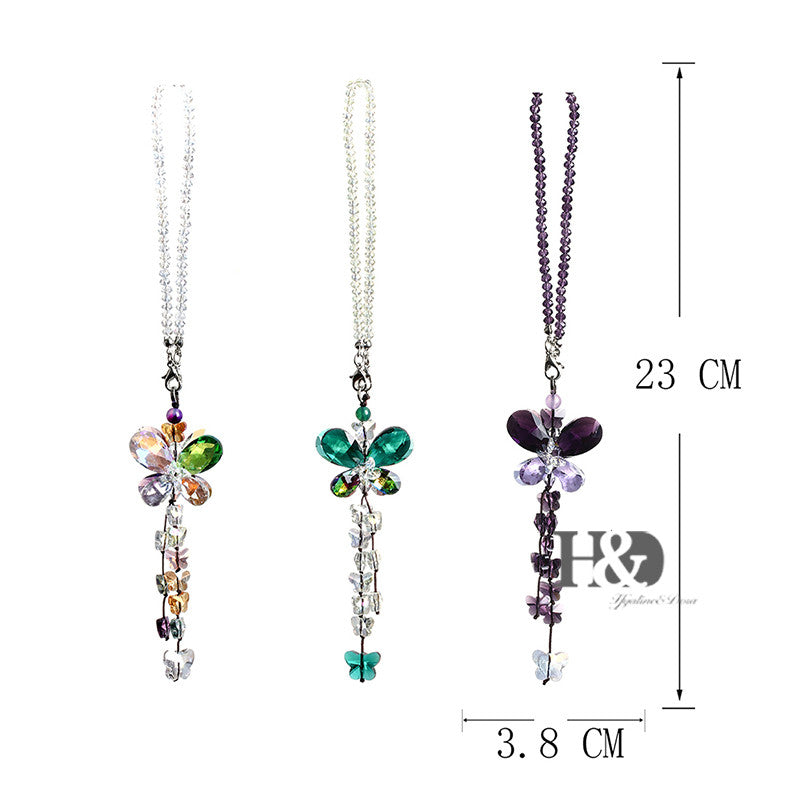 Colorful Crystal Butterfly Suncatchers (Set of 3)