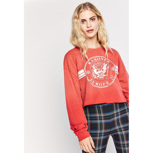 Ramones Europe '77 Crop Sweatshirt