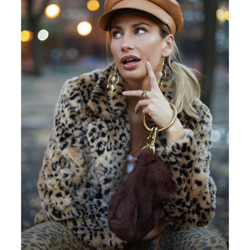 Leopard Faux Fur Jacket