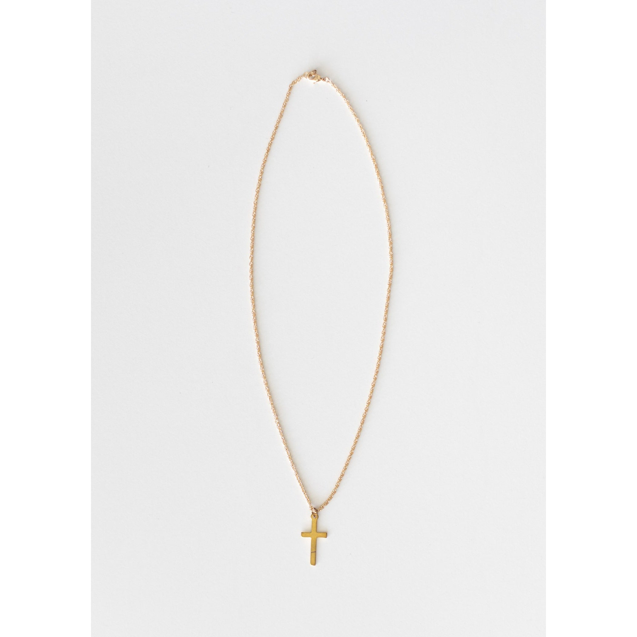 Shine On Simple Gold Cross Necklace