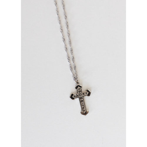 Saving Grace Silver Cross Necklace