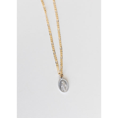 Medal Of Our Lady Graces Gold and Silver Necklace