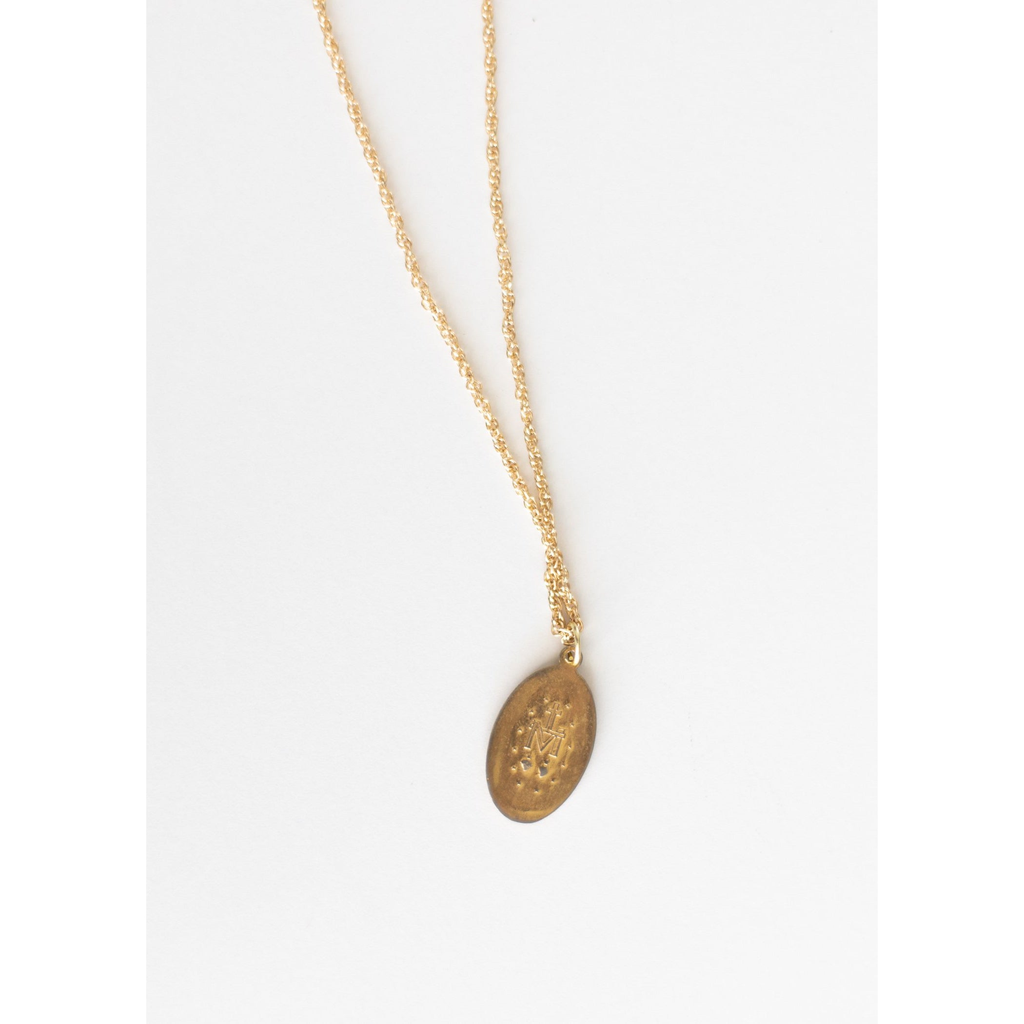 The Miraculous Medal Gold Necklace