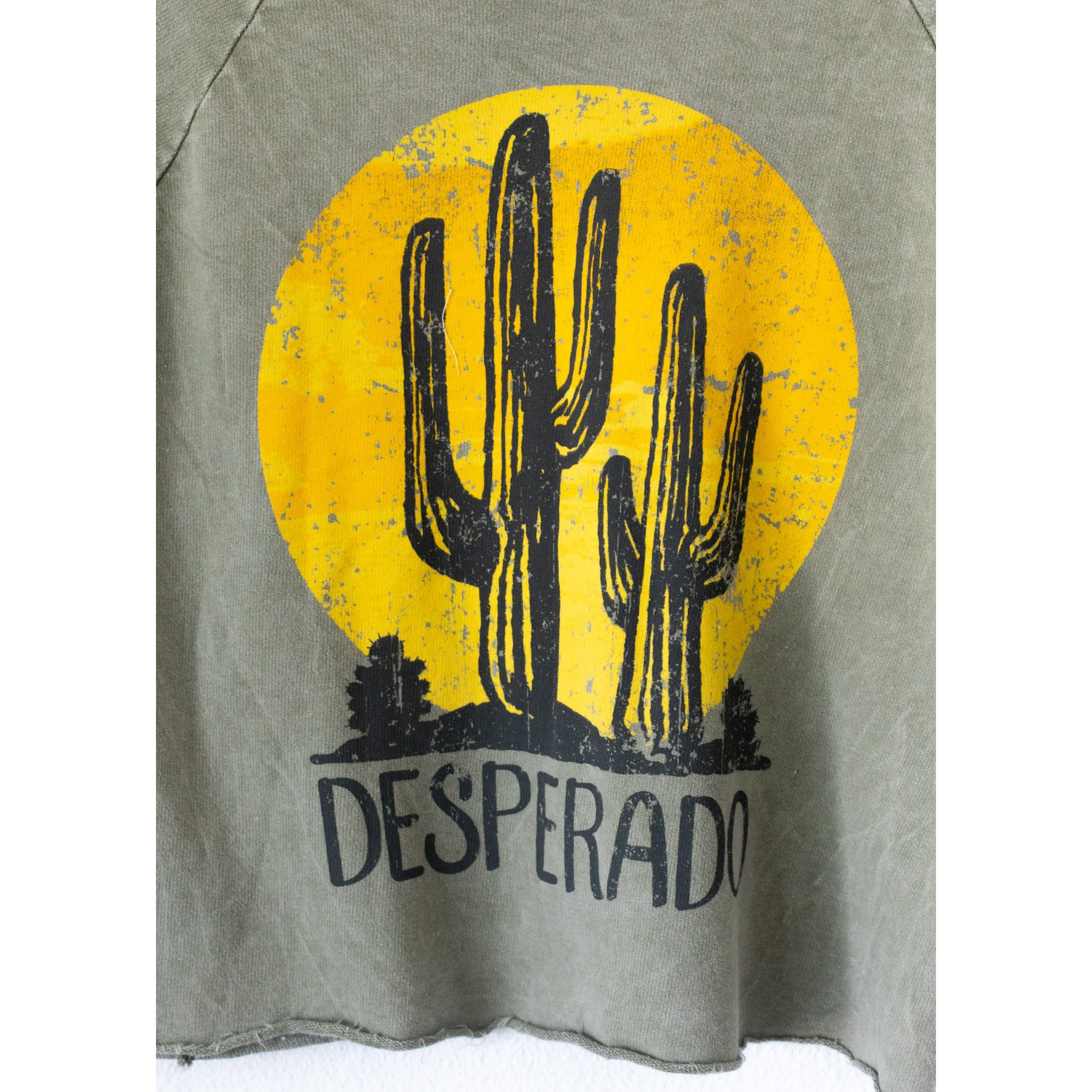 Desperado Cactus Destroyed Raglan Sweatshirt