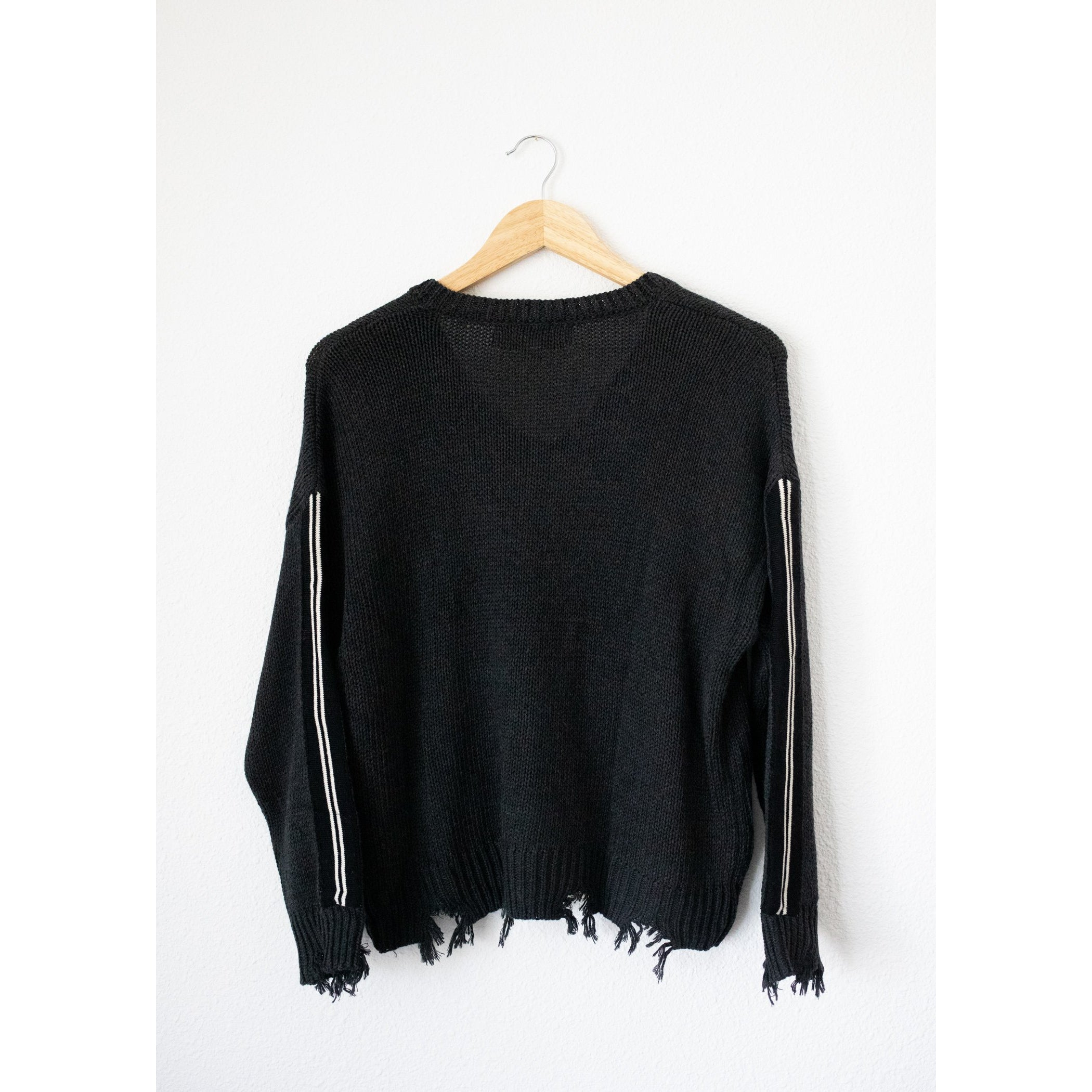 Chennile Knit Destroyed Sweater
