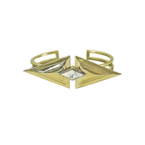 The Gold Pyramid Cuff