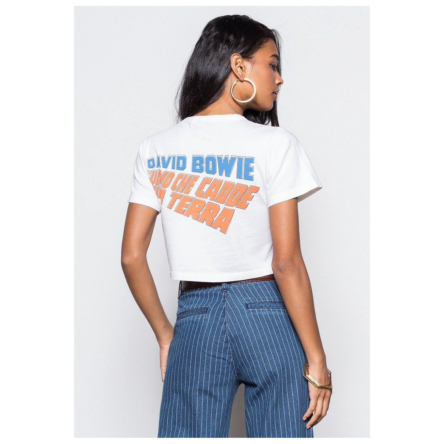 David Bowie Sulla Terra Rebel Crop Tee