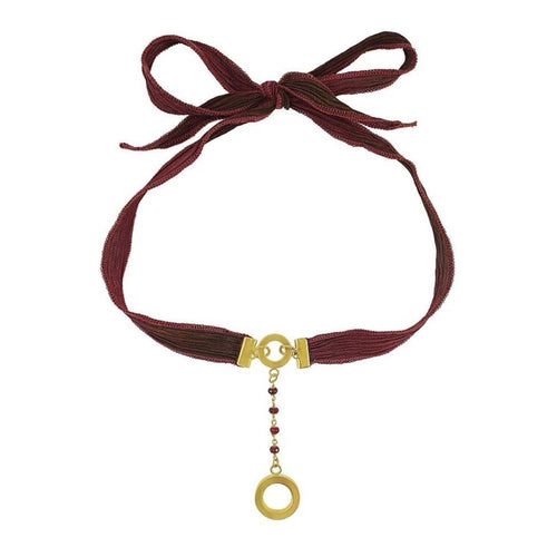 The Ruby Ribbon Choker