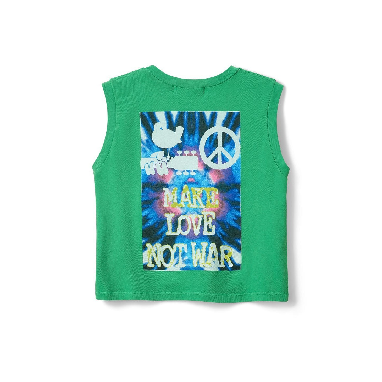 Woodstock Tie-Dye Rebel Crop Tank