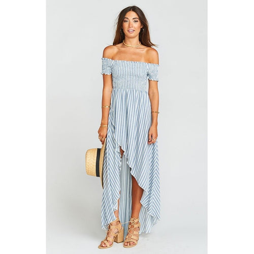 Willa Maxi Dress ~ She Sails Stripe Flux