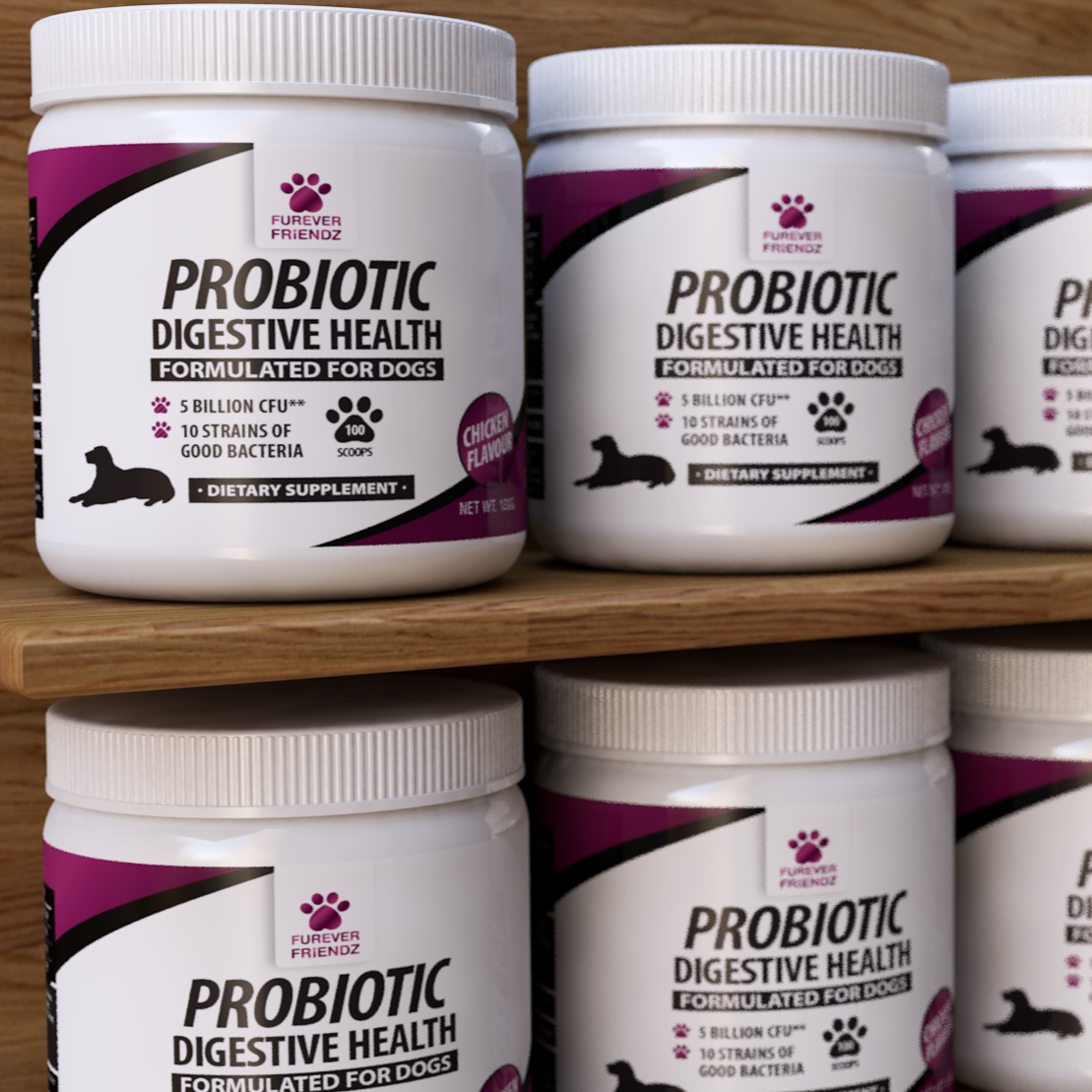 Probiotics for Dogs - Aids Good Digestive Health (Chicken Flavour Powder)