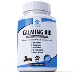 Calming Aid for Dogs: Helps with Stress & Anxiety (Chicken Flavour Tablets)