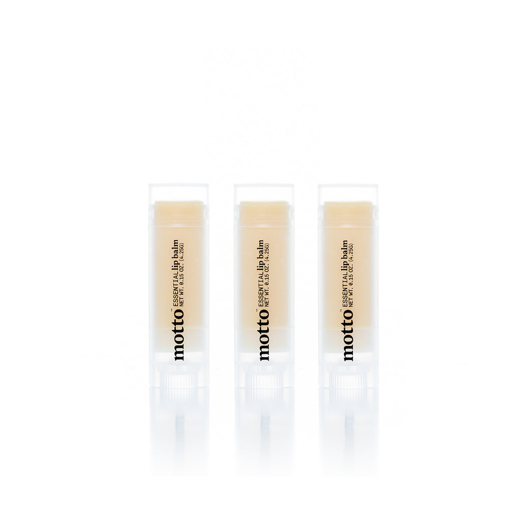 Motto Naturals Essential Lip Balm [3 Pack]