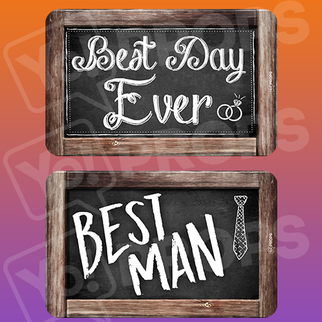 Rustic Wedding Prop – Best Day Ever / Best Man