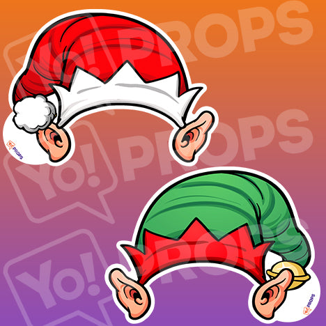 The Holiday/Christmas Wearable Prop - (Elf Ears with Hat)