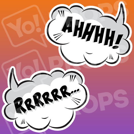 "Speech Bubble Prop – ""Ahhhh! / RrRrrr..."""