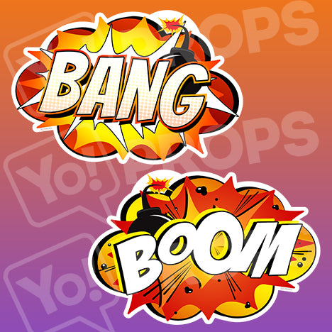 Superhero Action 2.0 Prop - Bang / Boom