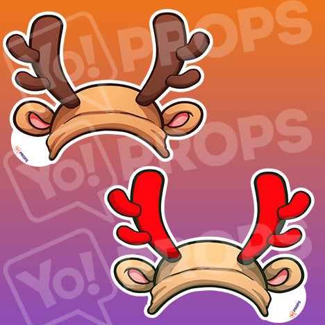 The Holiday/Christmas Wearable Prop - (Reindeer Antlers)