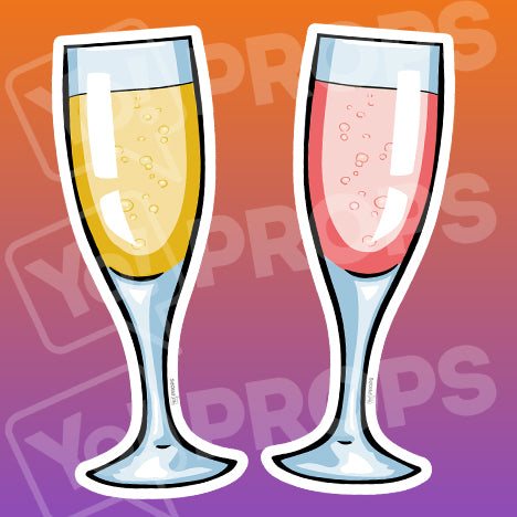 Drinking 2.0 Prop – Champagne Glass