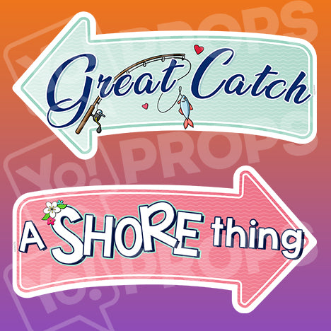 Wedding By The Sea Prop – Great Catch / A Shore Thing