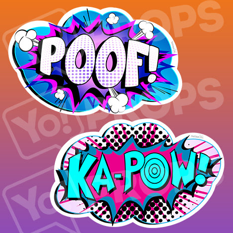 Superhero Action 2.0 Prop - Poof / Kapow