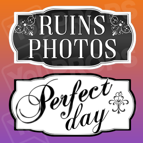 Classy Wedding Prop – Ruins Photos / Perfect Day