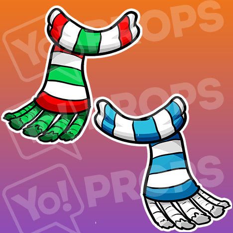 The Holiday/Christmas Wearable Prop - (Scarves)
