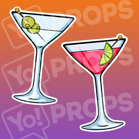 Drinking 2.0 Prop – Martini Glass