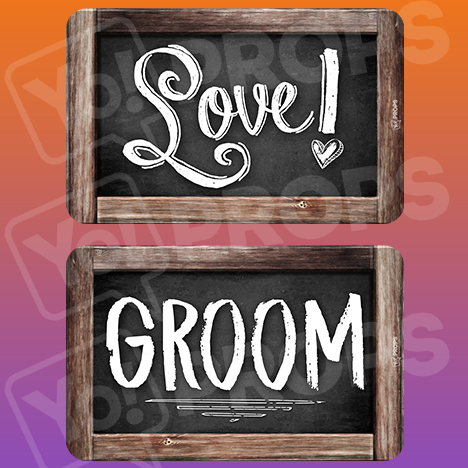 Rustic Wedding Prop – Love / Groom
