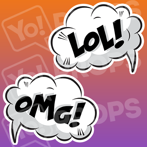 "Speech Bubble Prop – ""LOL! / OMG!"""