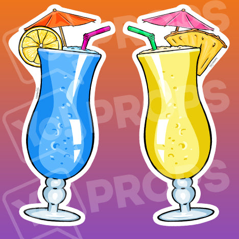 Drinking 2.0 Prop – Pina Colada Glass