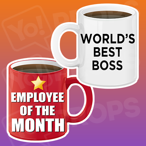 Corporate Prop 2.0 - Coffee Mug - World's Best Boss / Employee of the Month