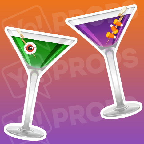 Halloween 2.0 - Candy Corn Martini / Eyeball Martini