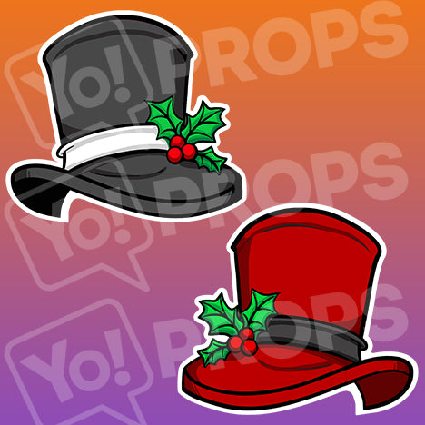 The Holiday/Christmas Wearable Prop - (Top Hat with Holly)