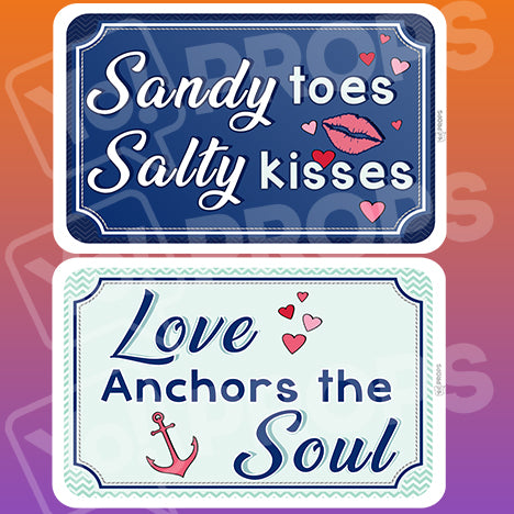 Wedding By The Sea Prop – Sandy Salty / Love Soul